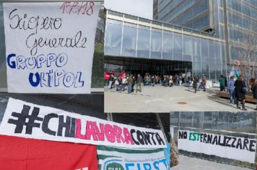 Assicurativi, gruppo Unipol, alta adesione allo sciopero