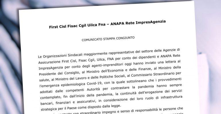 Coronavirus, il comunicato congiunto Anapa-sindacati e la lettera al governo