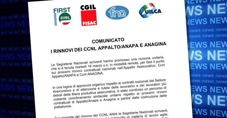 Appalto, i rinnovi del Ccnl Anapa e Anagina