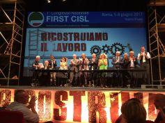 Congresso First Cisl, Giulio Romani confermato segretario generale