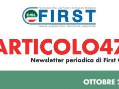 ARTICOLO47, la newsletter First Cisl di ottobre 2020