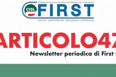 ARTICOLO47, la newsletter di First Cisl
