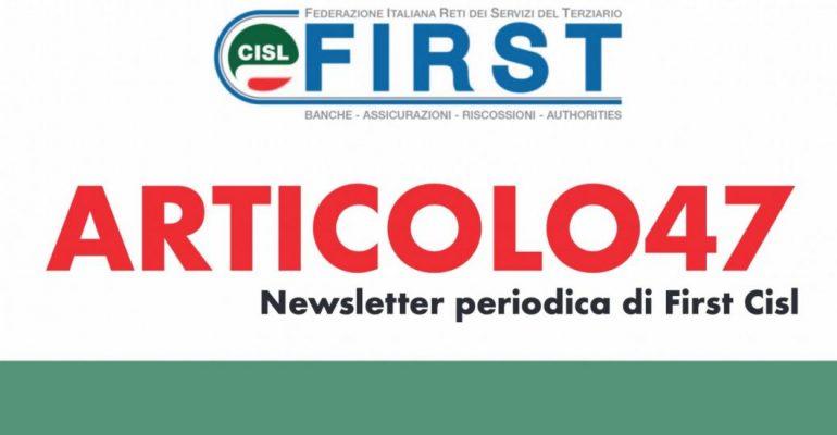 ARTICOLO47, la newsletter First Cisl di novembre 2020