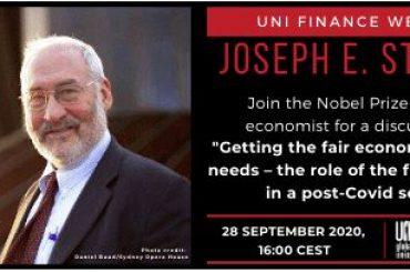 Stiglitz parla di economia e finanza post covid nel webinar Uni Finance
