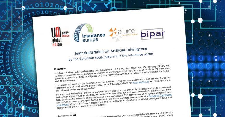 Firmata la Dichiarazione sull'Intelligenza Artificiale per il settore assicurativo europeo