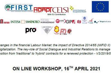 Mifid II e digitalizzazione, Workshop europeo on-line