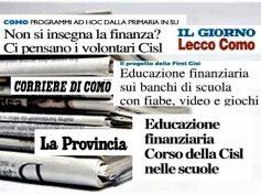 Cisl e First Cisl dei laghi, educazione finanziaria a scuola