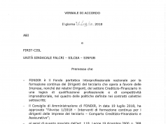 Siglato l'accordo con ABI: 12 mln € per la formazione ai dirigenti