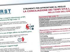 Conciliazione dei tempi vita-lavoro nell'emergenza, approfondimento First Cisl