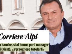 "Corriere delle Alpi, Romani, ""vergognosa tutela bonus manager"""