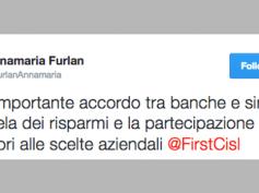 Furlan, via Twitter soddisfazione su protocollo politiche commerciali