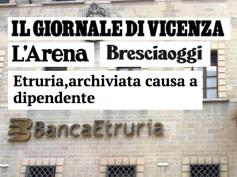 L'Arena, Bresciaoggi e Il Giornale di Vicenza, archiviata causa Etruria