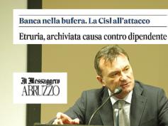 Il Messaggero, archiviata causa contro dipendente Banca Etruria