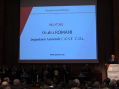 Il video di Giulio Romani al convegno dell'Abs di San Marino sugli npl