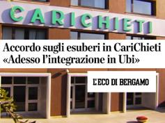 L'accordo di Nuova CariChieti sul L'Eco di Bergamo