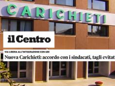 L'accordo di Nuova CariChieti sul quotidiano Il Centro