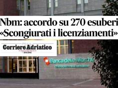 Accordo in Banca Marche, ampio servizio sul Corriere Adriatico