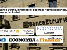 Banca Etruria, l'accordo sulla stampa nazionale