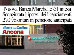 Il Resto del Carlino sull'accordo in Nuova Banca Marche