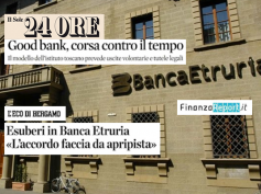 """""""Accordo in Banca Etruria modello per CariChieti e Banca Marche"""""""