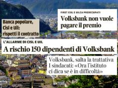 La stampa sul caso Volksbank