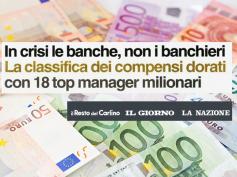 Banche in crisi ma banchieri strapagati, lo studio di First Cisl sulla stampa