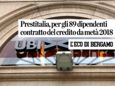 L'Eco di Bergamo sull'accordo di Prestitalia, Gruppo Ubi
