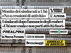 "Ubi, ""no alle esternalizzazioni"", la stampa locale dà voce a First Cisl"