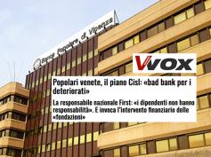 Popolari venete, le idee di First Cisl in un articolo di Vvox