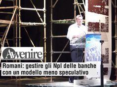 """""""Gli npl venduti al 10% son una disgrazia"""", oggi Romani su Avvenire"""