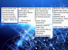 Banche venete, le dichiarazioni di Giulio Romani sulle agenzie di stampa