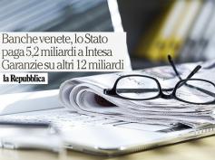 Banche venete, il commento di First Cisl su La Repubblica
