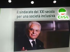 """Congresso Cisl, Mattarella, """"impegno Cisl per coniugare democrazia e lavoro"""""""