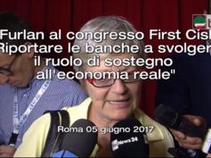 """Furlan al congresso First Cisl """"Riportare le banche a sostegno economia reale"""""""
