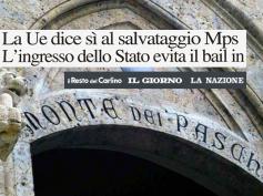 """Il salvataggio Mps su QN, First Cisl """"nessun licenziamento"""""""