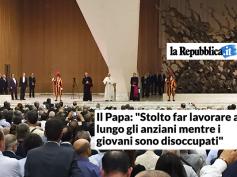 """La Repubblica, """"un nuovo patto sociale"""", le parole di Papa Francesco alla Cisl"""
