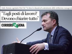 """Corriere di Siena, Romani, """"vogliamo sapere se il piano Mps prevede esuberi"""""""