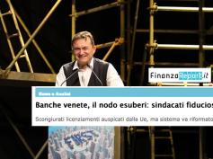 """Banche venete, """"sindacati fiduciosi"""" nel commento di FinanzaReport.it"""