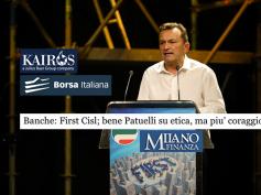 Ampia eco sulla rete ai commenti di First Cisl alla relazione Patuelli