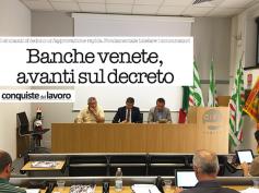Banche venete, First Cisl e Cisl Veneto su Conquiste del Lavoro