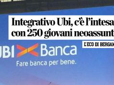 Accordo Ubi, il commento di First Cisl su L'Eco di Bergamo