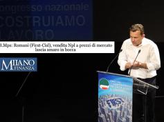 """Romani su Mps, """"vendita npl a prezzi di mercato lascia amaro in bocca"""""""