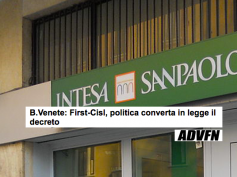 First Cisl su Advfn, la politica approvi il decreto senza modifiche