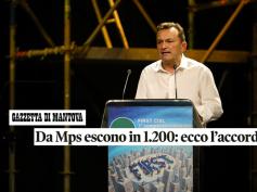 Giulio Romani sulla Gazzetta di Mantova commenta l'accordo in Mps