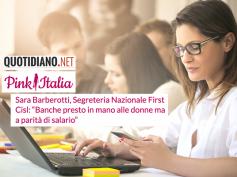"""Pink Italia, """"banche presto in mano alle donne ma a parità di salario"""""""