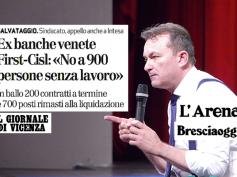 Venete, L'Arena, Il Giornale di Vicenza e Bresciaggi sull'allarme di First Cisl