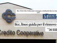 Trattativa ccnl Federcasse, First Cisl sulla stampa finanziaria