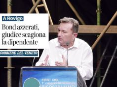 Il Corriere del Veneto su archiviazione causa contro dipendente Veneto Banca