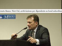 Su Mf archiviazione causa contro dipendente Veneto Banca difeso da First Cisl