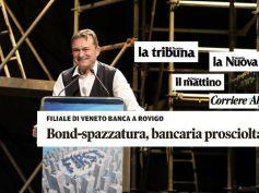 Archiviazione causa Veneto Banca, First Cisl sulla stampa del Nord Est